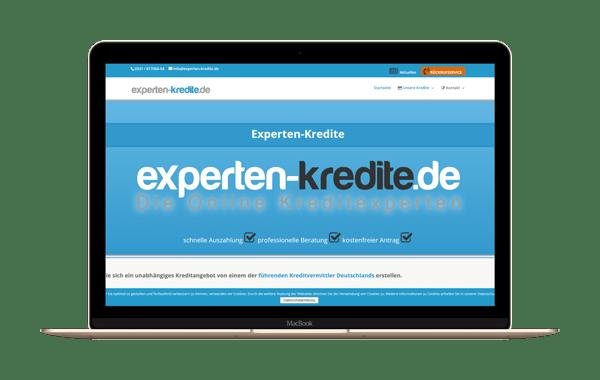 experten-kredite.de - Webseite